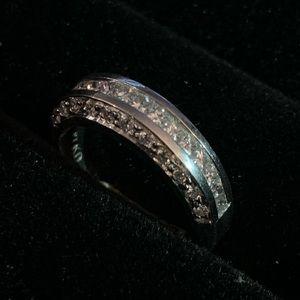 Jewelry - Platinum princess cut Diamond covered Ring 6.25